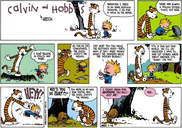 Egoism Cartoon- Calvin and Hobbes