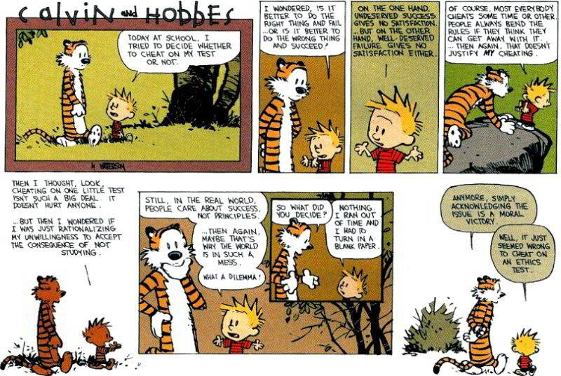 Rationalizations Cartoon- Calvin and Hobbes
